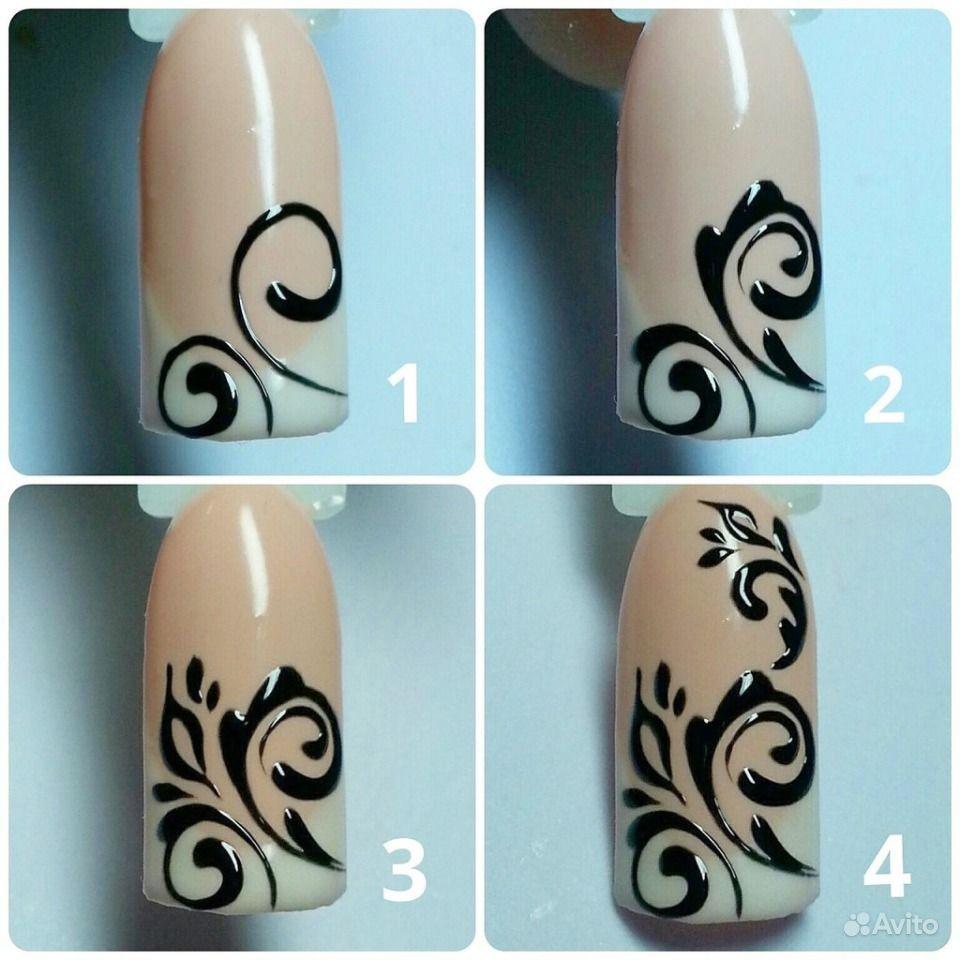 простые рисунки лаками на ногтях