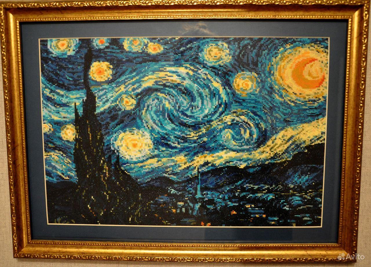 1088 Ван Гог «Звёздная ночь - Мир Вышивки 63