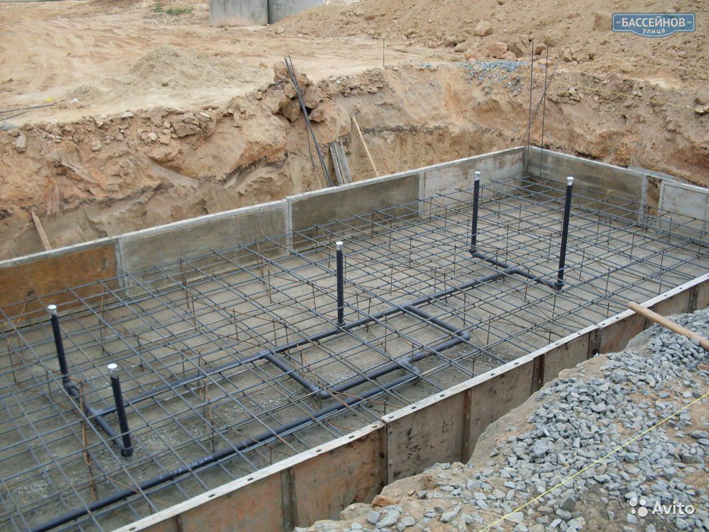 Круглый бассейн из бетона своими руками 85