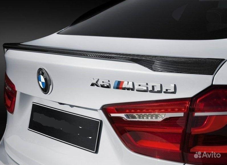 Спойлер BMW X6 F16 F86 Perfomance карбон.  Москва