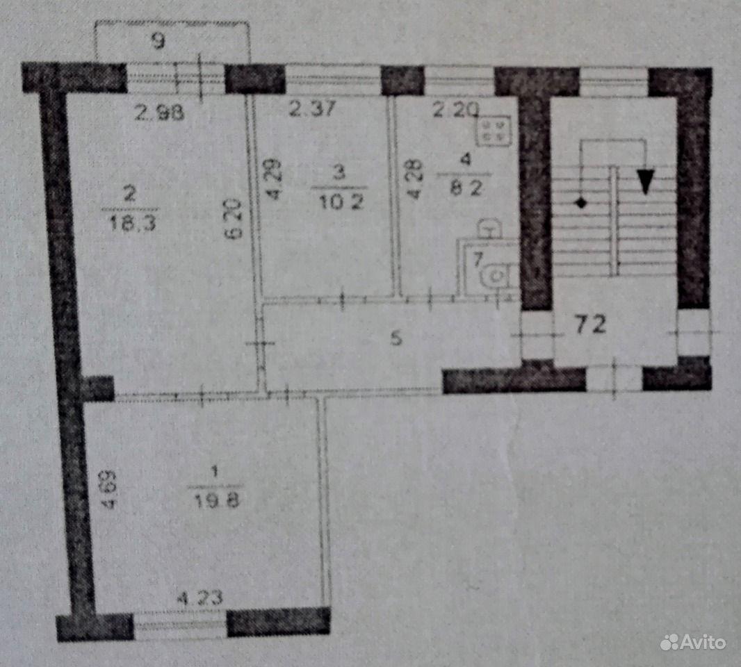 Продаю: 3-к квартира, 65.4 м , 4 4 эт.. Челябинская область,  Челябинск