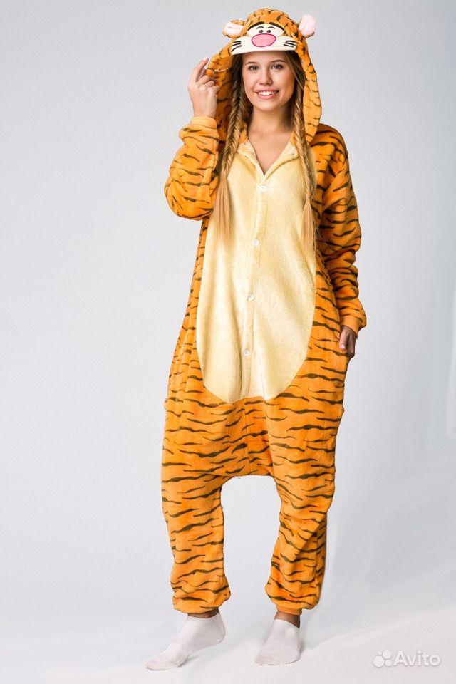 Пижама-кигуруми оранжевый «Тигра» из Винни-Пуха (D  9ae8be2dba71e