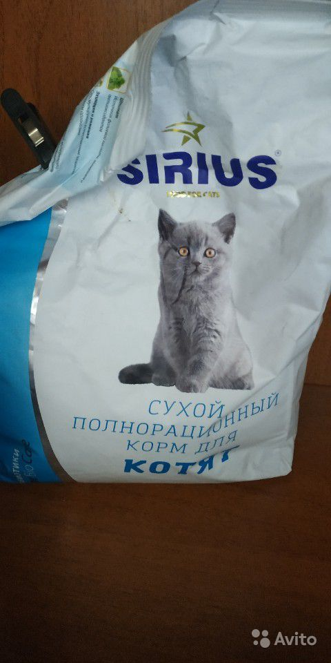 Сухой корм для котят Sirius