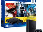 Sony PlayStation 4 Slim 500GB+ 3 игры + 3 PS plus