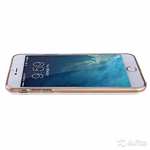 Чехол Nillkin Nature TPU Apple iPhone 6s Plus зол— фотография №1