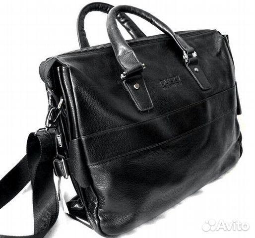 b2af8d883d01 Мужская кожаная сумка -Gucci- бизнес деловая новая купить в Москве ...