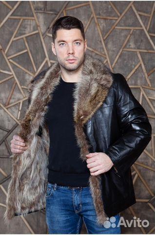 Купить кожаную меховую зимнюю мужскую куртку
