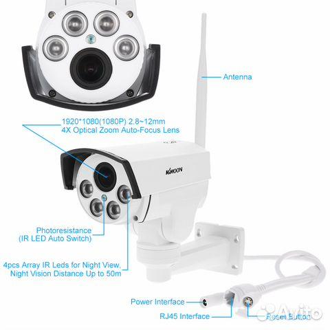 Беспроводная управляемая IP камера 1080P 89044497130 купить 9