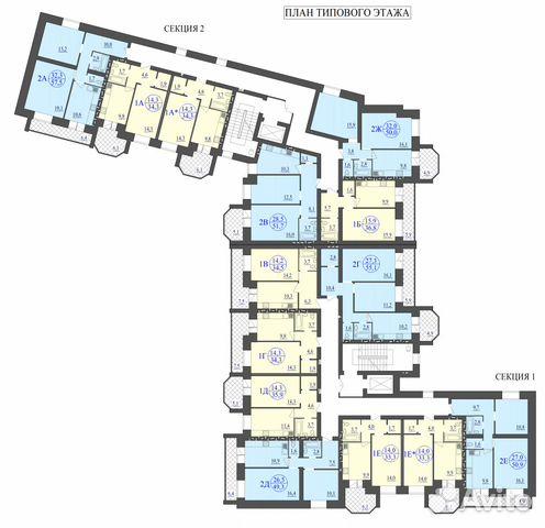 1-к квартира, 37.4 м², 3/9 эт. 89023839976 купить 3