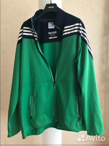 b9ec6a350d60 Новая зелёная мужская олимпийка оригинал Adidas купить в Москве на ...