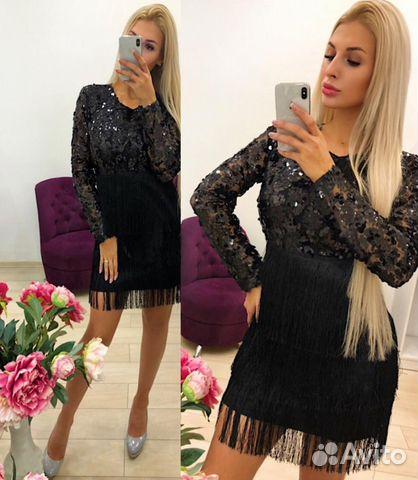 e2c18a6dab3 Мини-платье с пайетками и бахромой victoria tsum