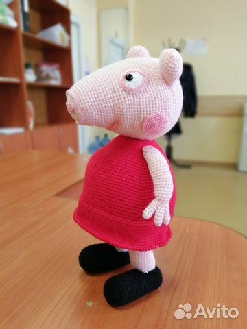 свинка пеппа вязаная игрушка купить в воронежской области на Avito