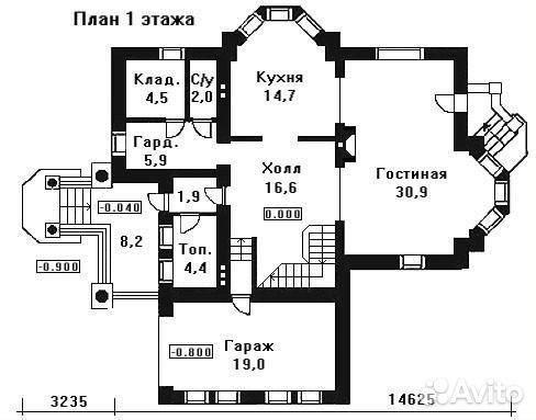 Коттедж 190 м² на участке 30 сот.  89159811181 купить 1