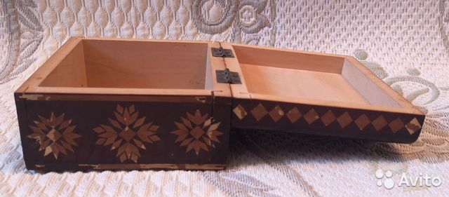 Деревянная шкатулка,СССР (16 см) 89137668817 купить 5