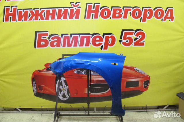89524408730 Hyundai Solaris 2 2016) крыло переднее левое синее