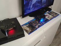PS4 + 5 игр + 2 джостика