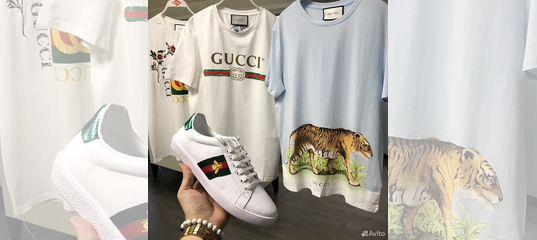 Футболка Gucci brand logo SS 2017 купить в Москве на Avito — Объявления на  сайте Авито b4c71f31156