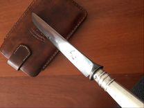 Антикварное старинное серебро нож столовый