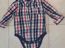 Рубашка боди для мальчика 6-9мес
