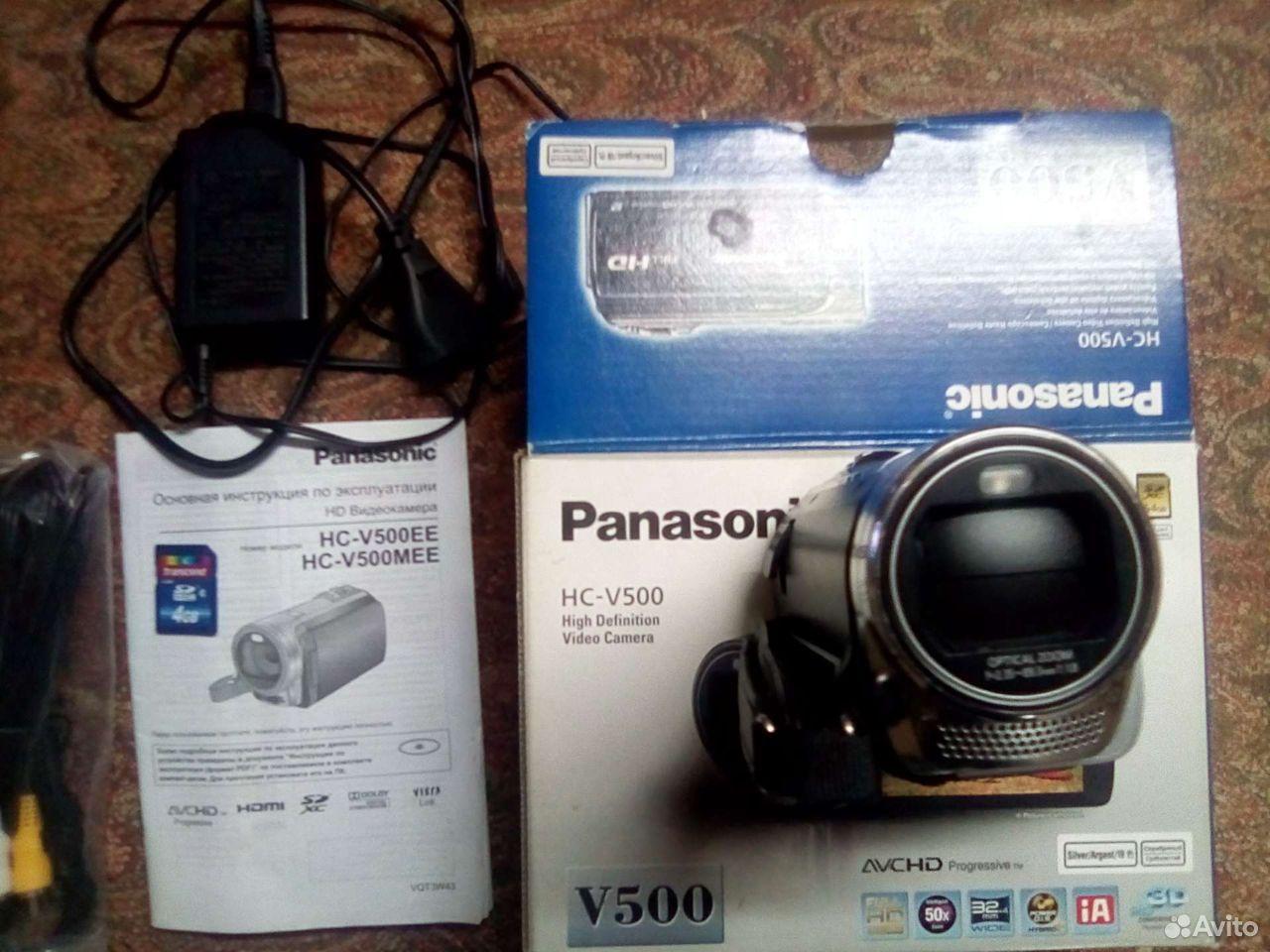Видеокамера Panasonic HC-V500 Full HD  89373707500 купить 2