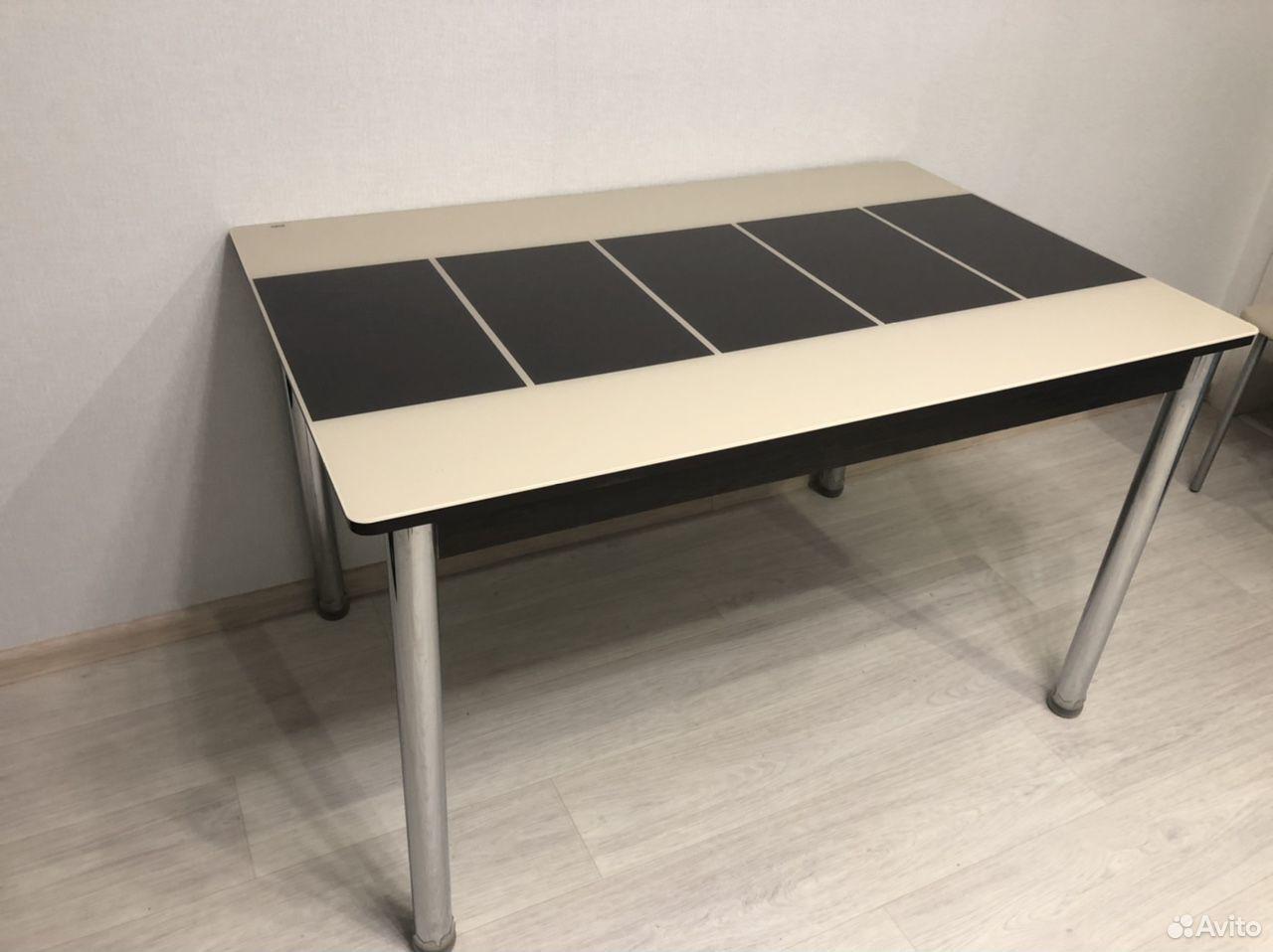 Стол кухонный, стеклянная столешница  89224837523 купить 1