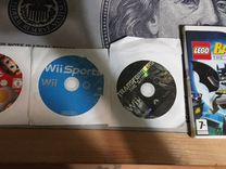Nintendo Wii + 2 контроллера + 4 игры + джойстик