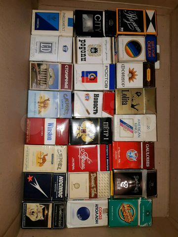 Коллекция пачек от сигарет купить электронная сигарета купить в челябинске цены и