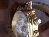 Швейцарские мужские золотые 750 пробы часы W.Gabus