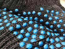Перчатки рабочие хб с пвх 6-ти нитка точка, черные