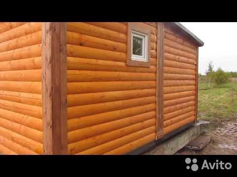 Готовый дом из бруса с сантехникой за 1 день
